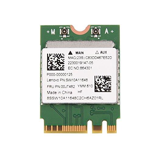 Richer-R Dual Band Wireless Wifi Karte, 2 in 1 Bluetooth 2,4 GHz/5 GHz m.2 Interne WLAN 300 Mbit/s Karte,802.11 A/C Wifi Drahtlose Mini NGFF/M2 Karte Adapter Netzwerk für Laptop PC
