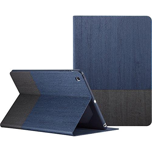Capa Fólio ESR Urban Premium para iPad Mini 1/2/3, [Ângulos de visão com vários suportes] Capa com design de livro com função Auto Sleep/Wake para iPad Mini 1 / Mini 2 / Mini 3 (Knight)