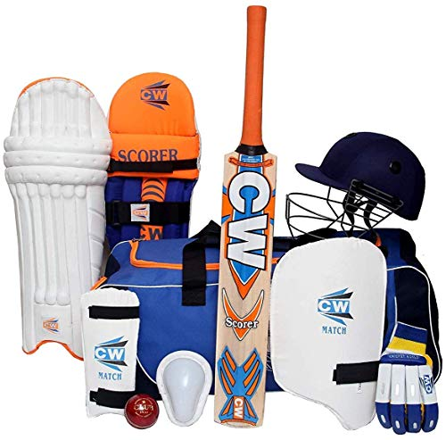 CW Scoremaster Komplettes Cricket-Set mit Fledermaus-Koffer, Radtasche für Kinder – Senior, 5 for 10-11 Yr