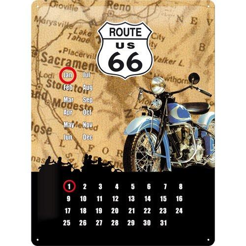 Blechschild US Route 66 Kalender Highway 20x30 cm Blechschilder Schild USA Sign