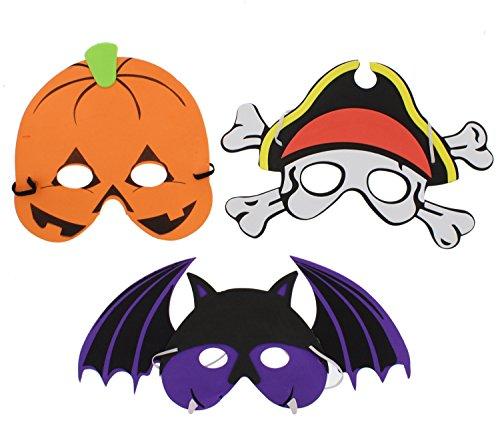 Zacs Alter Ego Set van 12 verschillende Halloween-schuimmaskers voor kinderen