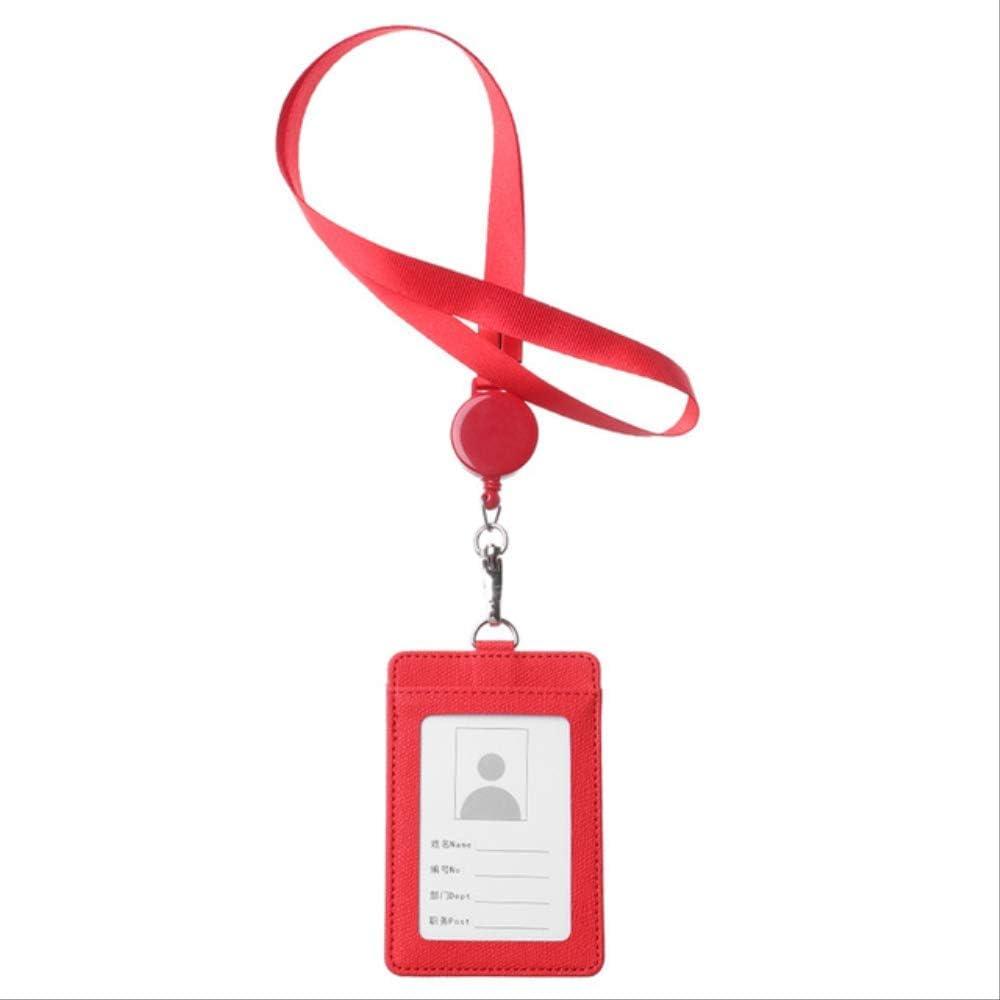 rosso Porta Badge da Collo New Business Lanyard Card Holder Unisex Uomo Donna Porta Carte Studente Simpatico Cartone Animato Badge Id Porta Carte Di Credito Forniture Per Ufficio Stile 1
