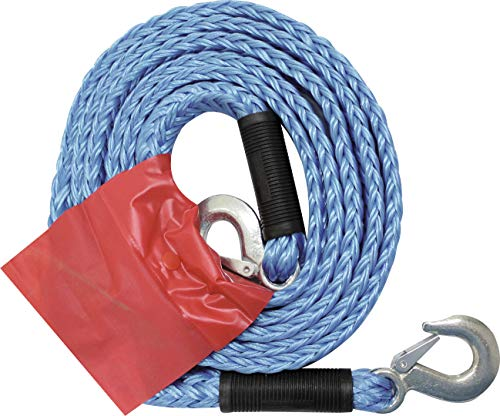 Petex 43191805 3000 - Cuerda de Remolque con 2 mosquetones, Fuerza de tracción: 3000 kg, Color Azul