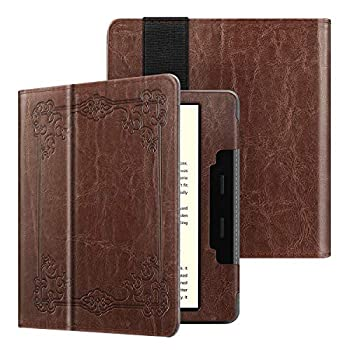 Fintie Folio Case for All-new Kindle Oasis  10th Generation 2019 Release and 9th Generation 2017 Release  - Premium PU Leather Slim Fit Cover with Auto Wake Sleep Vintage Brown