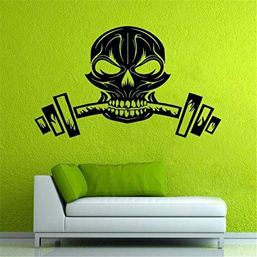 Geiqianjiumai Muursticker silhouet muursticker home decor vinyl poster fitness poster met gewicht halter