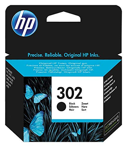 HP 302 F6U66AE Cartuccia Originale per Stampanti a Getto di Inchiostro, Compatibile con DeskJet 1110, 2130 e 3630, HP OfficeJet 3830 e 4650, HP ENVY 4520, Nero