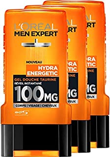 L'Oreal Men Expert Hydra Energetic Despertar Gel de Ducha instantánea Hombres 300 ml - juego de 3