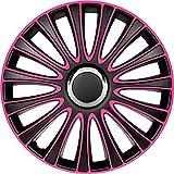 Jeu d'enjoliveurs LeMans 14-inch noir/rose