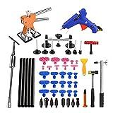 Adecuado para el coche Cuerpo Cuerpo Herramientas de eliminación de reparación sin pintura Puerta automotriz Ding Dent Silde Hammer Glue Puller Repair Kits para daños al coche ( Color : Set 2 )