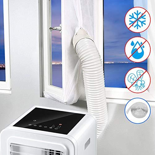 Minterest Kit de Ventana de Ca Portátil, 157 Pulgadas Aire Acondicionado Secadora de Ventanas Ventanas Sellado Protectores de Intercambio de Aire Con Cierre Adhesivo para Ventanas de Manivela Abatible
