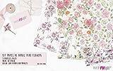 PAPEL DE ARROZ KIT PINK FLOWERS. 5 PAPELES 54X33CM PFY2340