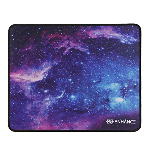 ENHANCE Large Gaming Mouse Pad XL - Big Mouse Mat, Anti-Fray Stitching, Non-Slip Rubber Base, High Precision Tracking for Fortnite, League of Legends & More - Voltaic Series (Galaxy)
