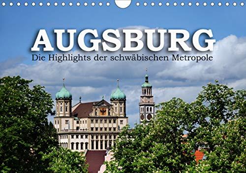 Augsburg – Die Highlights der schwäbischen Metropole (Wandkalender 2021 DIN A4 quer)