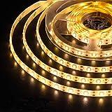 AMIR Upgraded LED Strip Lights, 180 LED 9.84ft Flexible Solar Strip Lights, 8 Lighting Modes, Waterproof for Patio, Garden, Home, Wedding, Courtyard (Warm White)