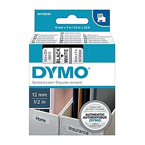 Dymo D1-Schriftband, 12mm x 7m, schwarz auf weiß