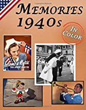 Memories: Memory Lane 1940s For Seniors with Dementia (USA Edition) [In Color, Large Print Picture Book]