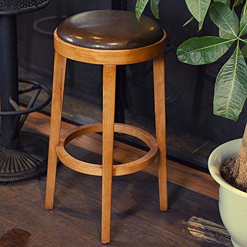 Guo shop- Chaises de bar avant rétro, tabouret haut en bois massif, hauteur du siège 73cm Bonne chaise (Couleur : B)