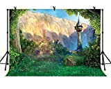LYLYCTY 7x5ft Rapunzel Valley Tower Background for Children's Party Children Features Photo Baby Shower Photography Film Props LYLS740