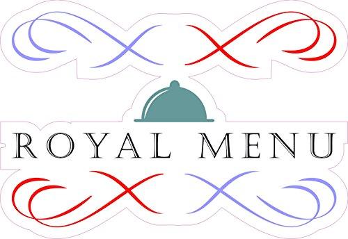 1 x Aufkleber Royal Menu Königlich Menü Essen Sticker Fun Gag Spruch Restaurant