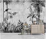 papel pintado bosque blanco y negro