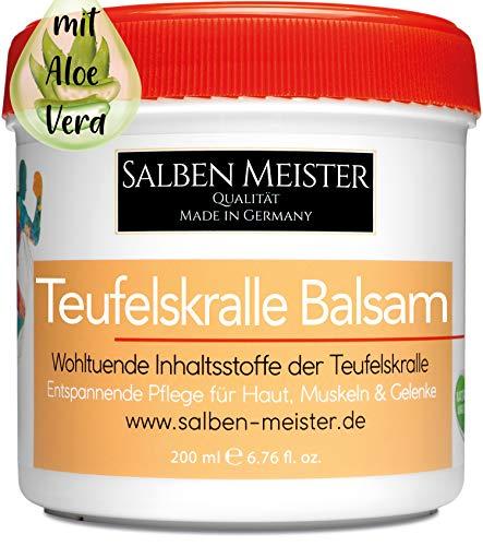 Salben Meister Teufelskralle Balsam | Durchblutungsfördernd mit Aloe-Vera, Lavendelöl, Rosmarinöl | Teufelskralle Creme | Teufelskralle Salbe Mensch | Teufelskralle Gel | 200 ml