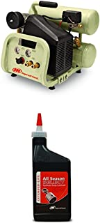 Twin-Stack P1IU-A9 2 HP 4 Gallon Portable Air Compressor and Synthetic Lubricant