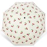Ai-life Motif de Fruits Anti-UV Compact Pliant Parapluie, 8 Baleines en Fibre de Verre Incassable Résistant au Vent Parasol...