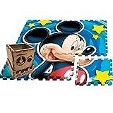 Ecommur Alfombra-Tatami Goma eva Mickey Mouse (90x90) para el Suelo. Juguetes Montessori