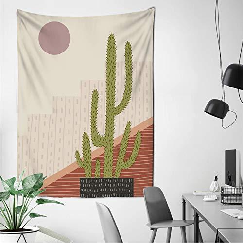 N/A Impresión 3D tapices Moda Animales Plantas Hojas ilustración Tela de Pared Lienzo Pintura Tapiz nórdico para decoración de Sala de Estar Tapiz Regalo Elegante del Arte de la decoración del hogar
