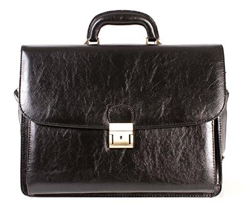 Para hombre moderno vintage maletín bolso de estilo de/bolsa, Negro Color