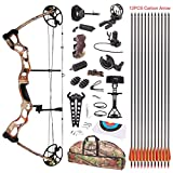 Leader Accessories Compound Bow 50-70lbs 25' - 31' Archery Hunting Equipment with Max Speed 310fps, Right Handed
