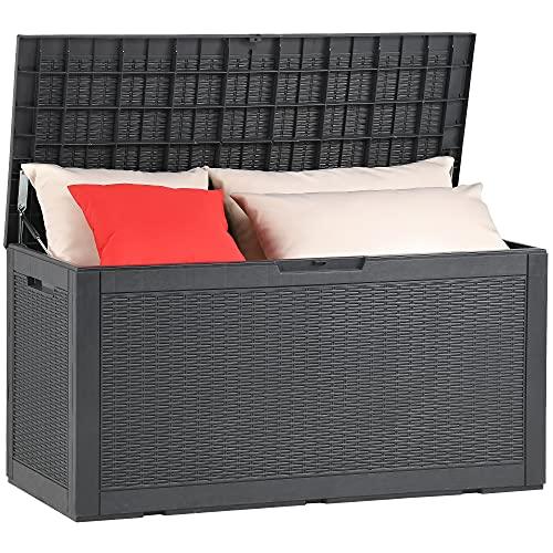 YITAHOME 100 Gallon Large Resin Deck Box Outdoor...