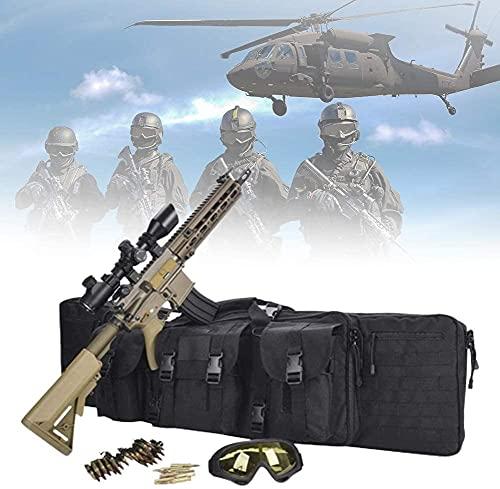 Bolsa para Doble Rifle, Bolso Táctico de Oxford Impermeable para Fusil Escopeta Larga, Compartimiento con Cierre para Cargador Munición Accesorios (Size : 93cm)