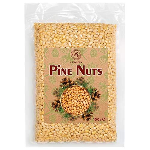 Pinienkerne 1000g - Natürliche Sibirische Zedernüsse - Zedernkerne ohne Schale - Pinienkerne für Pesto - Sibirische Pinienkerne für Essen & Kochen