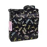 I Frogee Black Dragonfly Brocade Diaper Bag/Messenger Shoulder Bag