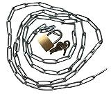 catena in acciaio con lucchetto – catena robusta con lucchetto + 3 chiavi – lunghezza a scelta 50 75 100 150 200 cm – chiusura & bloccaggio – casa e officina (50 cm)