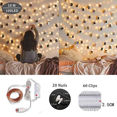 Cozywind Clip Cadena de Luces LED 10m