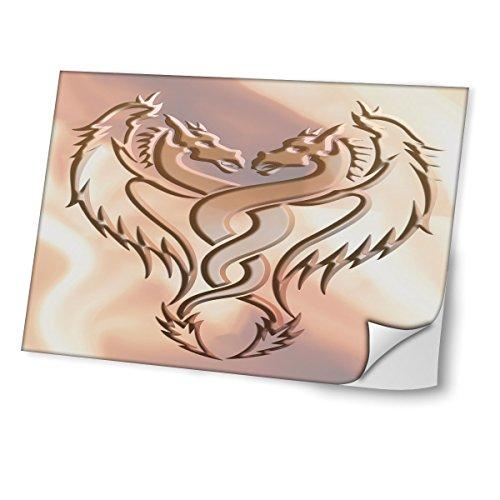 Virano Tribal 10005, Drachen, Skin-Aufkleber Folie Sticker Laptop Vinyl Designfolie Decal mit Ledernachbildung Laminat und Farbig Design für Laptop 13.3