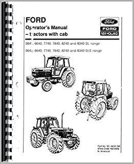 Operators Manual Ford 8240 7740 5640 8340 7840 6640 Tractor