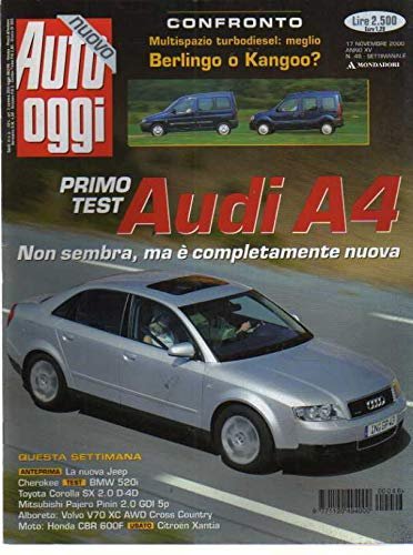Auto Oggi 46 del Novembre 2000 Audi A4, Bmw 520i, Toyota Corolla