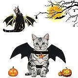 Costume per Halloween per Gatti, Ali di Pipistrello in Velcro Regolabili, Ali di Pipistrello Halloween per la Decorazione di Costumi per Cani di Piccola Taglia Media Gatti