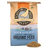 Naturally Free Organic Grower Feed for Chickens and Ducks - 25-lbs - Non-GMO Project Verified, Soy Free and Corn Free - Scratch and Peck Feeds