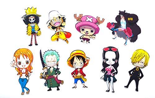 A Magneti frigo di One Piece 9 con Figure Chibi dell'equipaggio di Cappello di Paglia