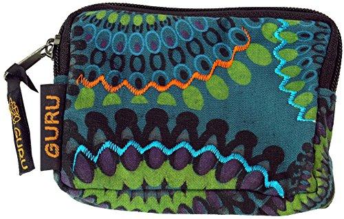 GURU SHOP Portemonnaie `Ethno` in Verschiedenen Farben, Herren/Damen, Türkis, Baumwolle, 8x12 cm, Portemonnaies aus Stoff