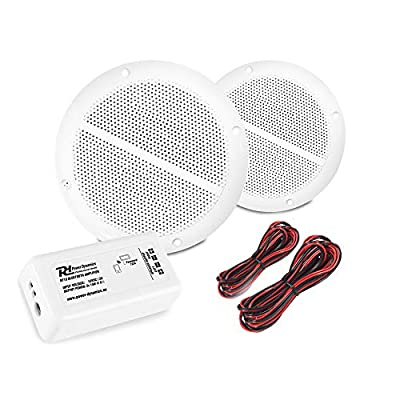 Power Dynamics Bluetooth Ceiling Speakers and Amplifier System for Kitchen Bathroom Home Audio Wireless from Electromarket