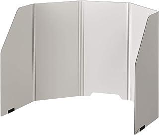 キングジム パーソナルパーテーション 高さ450mm 8020 ライトグレー