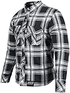 Speed & Strength 878982 Rust and Redemption Armored Moto Shirt (Black/Gray, Large)