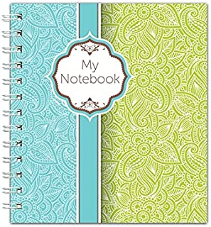 Channie's Handwriting Improvement Spiral Notebook, Stylish Visual Writing & Printing Aid for Elementary School Students and Special Needs Kids & Teens, 120 Pages, Thick Paper, Size 10.5