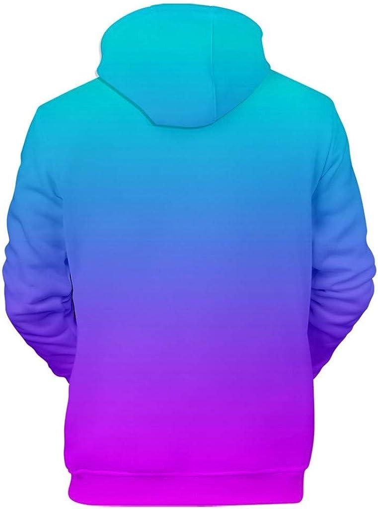 Novelty Casual Gradient 3D Print Long Sleeve Sweatshirt Unisex Blouse Tops Hoodies Big and Tall Beautyfine