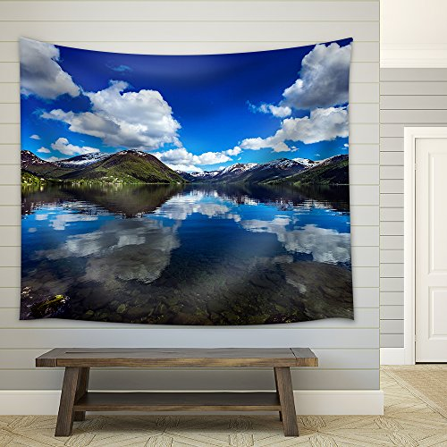 wall26 - Beautiful Nature Norway Natural Landscape. - Fabric Wall Tapestry Home Decor - 51x60 inches
